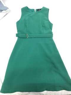 Doublewoot green colour dress #SBUX50