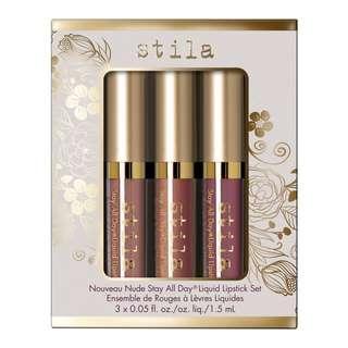 [open po] stila - nouveau nude stay all day liquid lipstick set