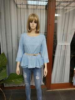 Atasan bahan jeans soft