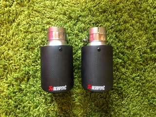 Akrapovic carbon fibre exhaust tip