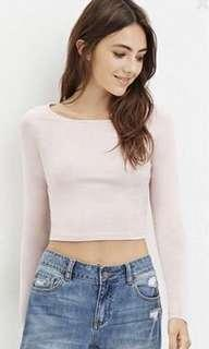 Forever 21 Pink Long Sleeve Top