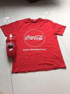Coca Cola t shirt and straw bottle