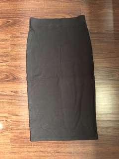 H&M cotton pencil skirt