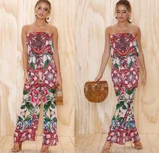 S to XL Floral Romper Jumpsuit