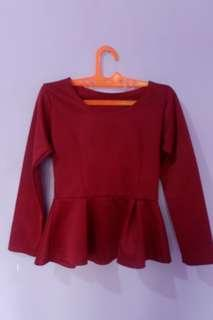 top red merah rumbai