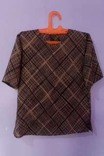 atasan top coklat