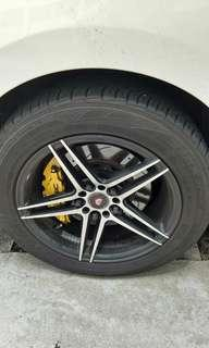 """16"""" deep disc rims with tyre"""
