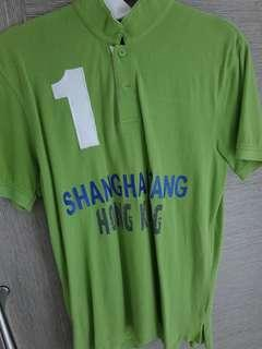 Shanghai Tang Polo Tee Green Size M