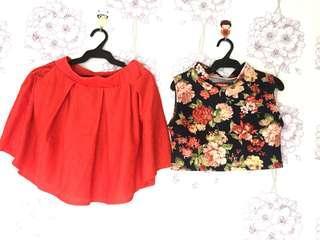 OOTD Crop Top & Skirt