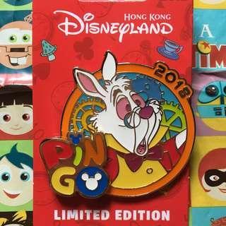 迪士尼襟章 2018 Pin Go 白兔先生 (Disney Pin trade/Pin Go/Alice in the wonderland