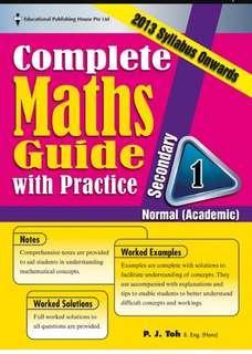 Sec 1 Normal (academic) Maths assessment book