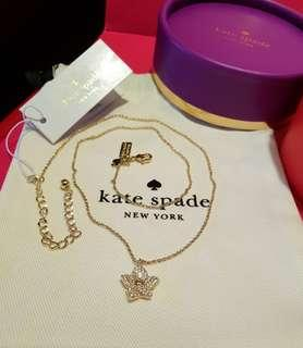 *Perfect Gift* Kate Spade Blooming Flower Gold Tone Pendant with Crystals