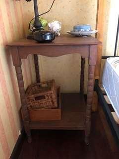 Peranakan / colonial  teak wood side table