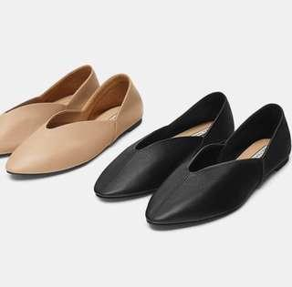 Zara - Leather Babouches Shoes