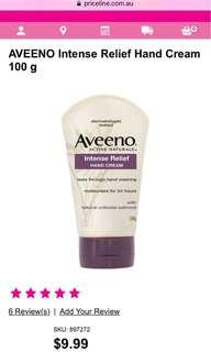 AVEENO Intense Relief Hand Cream 100 g Was $9.99 Now $7