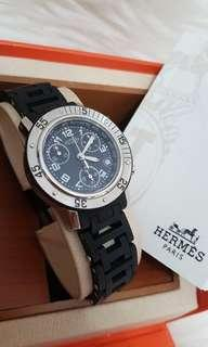 Hermes Clipper Watch Boysize 33mm Chrono Automatic