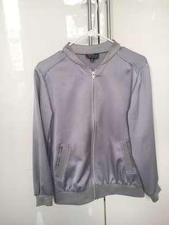Topshop Silver Grey Bomber Jacket