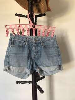 Washed Jean Shorts size 26 waist