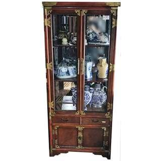 WOODEN DISPLAY CABINET WITH GLASS