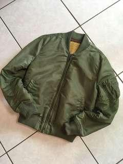 🚚 Army Green MA-1 Flying Jacket NOT alpha