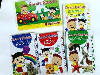 Early Learning Board Books with Carrying Case