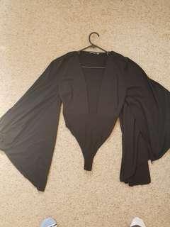 Plunge batwing bodysuit