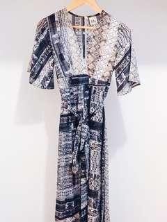 Kimono-style playsuit