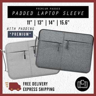 🚚 🔅cT🔅 CLEARANCE PADDED HANDLE LAPTOP SLEEVE LAPTOP BAG for all laptop casings 11inch 12inch clearance ONLY ONE SIZE
