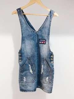 Vintage denim pinafore
