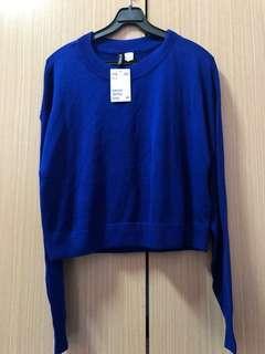 H&M寶藍針織衫-S