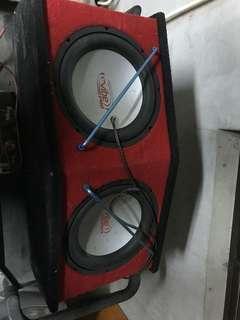 雙12吋重低音 無擴大機