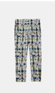 New zara checked jaquard pants