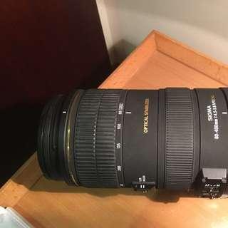 Sigma lens 80-400mm