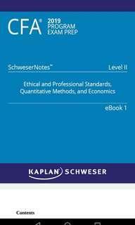 CFA 2019 LVL2 Schweser Notes Textbook 1-5
