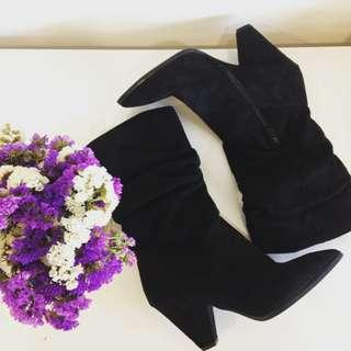 As New Pointed Scrunch Boots