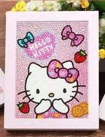 DIY Hello Kitty Diamond Art Full set with frame
