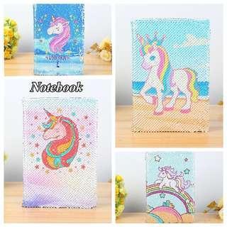 💟 Unicorn Reversible Sequin Notebooks 💟