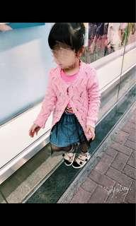 Korea牛仔魚網紗裙(4-5yrs)