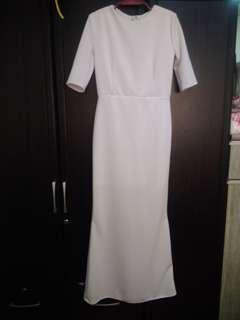 Custom made white long formal dress