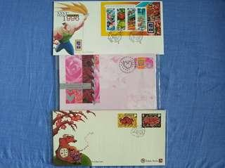 Mixed first day covers