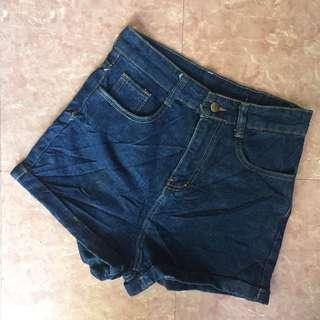 Denim High Waist Short 😂