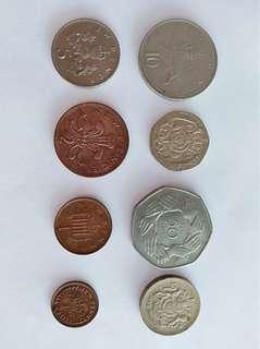 1/2 new penny to pound coins