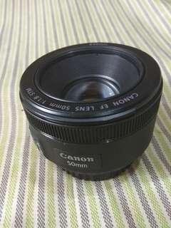 Canon 50 mm 1.8 STM len.