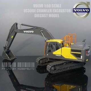 Brand new Motorart 1:50 Scale Volvo EC300E diecast crawler excavator model with metal tracks