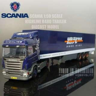 Brand new 1:50 Scale Scania R480 Highline Trailer Truck Diecast Model