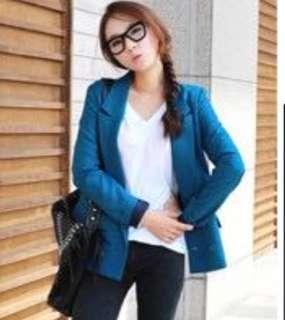 Korean Style Blazer in Blue