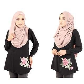 QA-434 Lovely Floral Embroidery Top