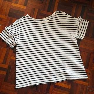 Pale pink striped T-shirt