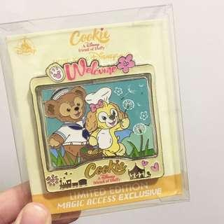 全新 迪士尼 會員限定 限量版 Jumbo 徽章 Duffy Cookie