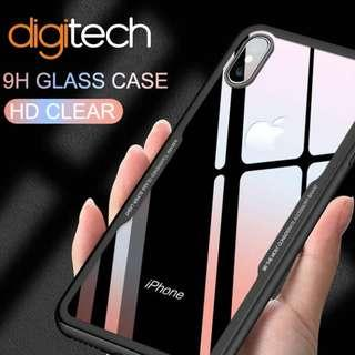 Tempered Glass Case For All Iphones - including XR,XS,XS Max